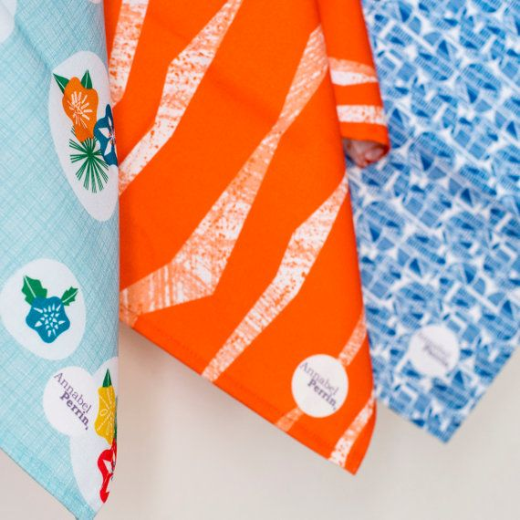 Geometric Tea Towels by Annabel Perrin