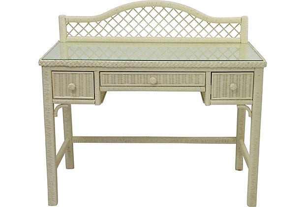 Henry Link Wicker Desk This Is My Make Up Table