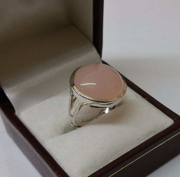 Alter+Rosenquarz-Ring+Silberring+925+17,7+mm+SR368+von+Atelier+Regina++auf+DaWanda.com