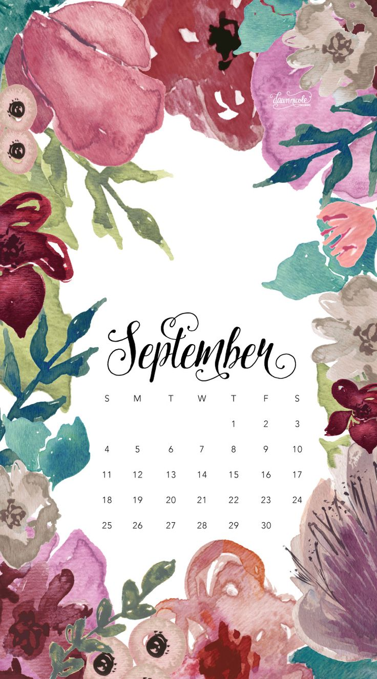 September 2016 Calendar + Tech Pretties