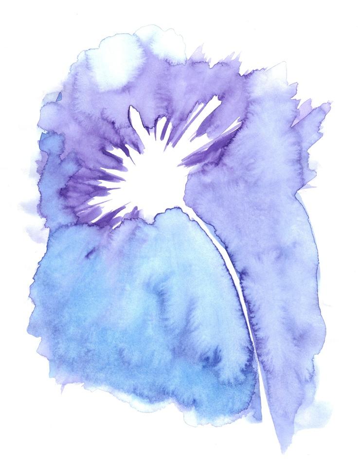 Watercolour Flower. http://www.claireelizabethartwork.com/