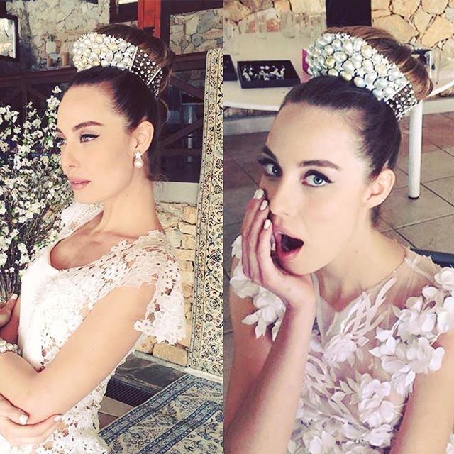 Every bride is a princess, our Pearls Fairy Tiara with Baroque South Sea Pearls and Diamonds on White Gold.. #pearlscenter #jewellery #jewelry #pearls #southsea #athens #photoshoot #backstage #okmagazinegreece #fashiongreek #fashion #style #