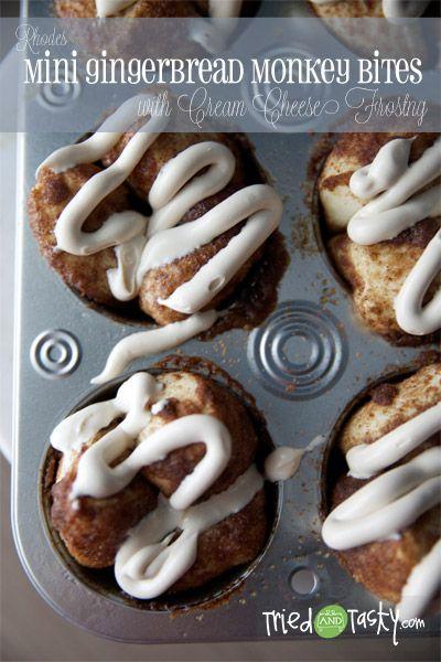 Mini Gingerbread Monkey Bites // TriedandTasty