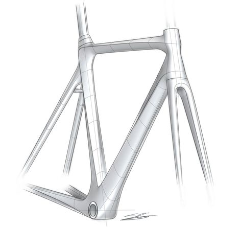 Bike frame sketch