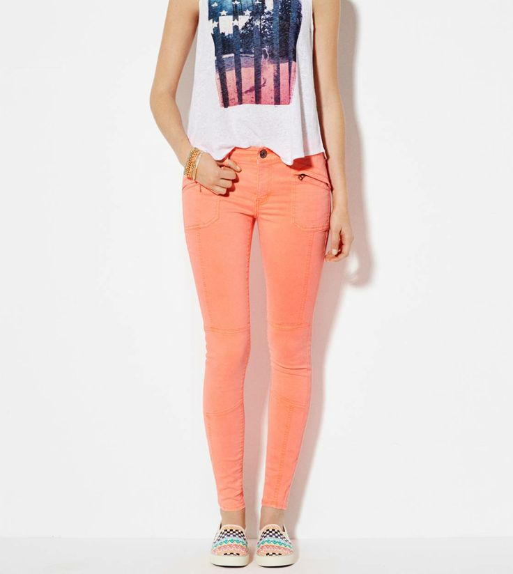 Neon Coral Moto Jegging Pant                                                                                                                                                      More