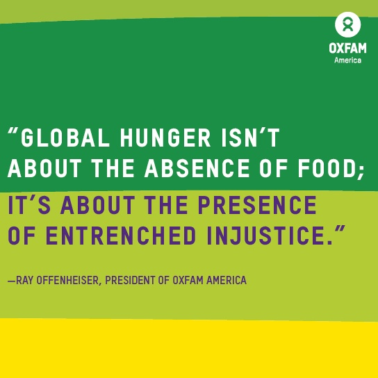 global hunger isn't about the absence of food...