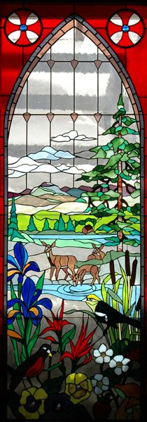 The stained glass windows of St. John's, Ouray