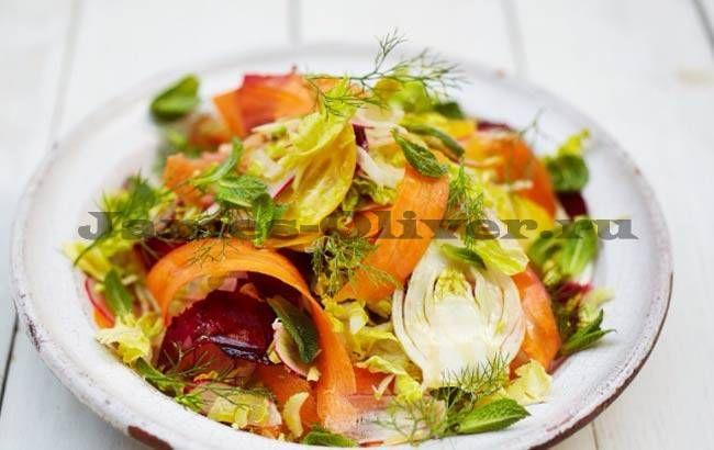 Рецепт овощного салата с фото от Джейми Оливера