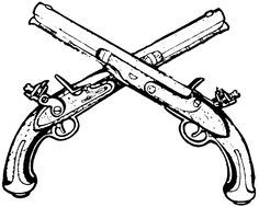 pirate flintlock pistol drawing - Google Search