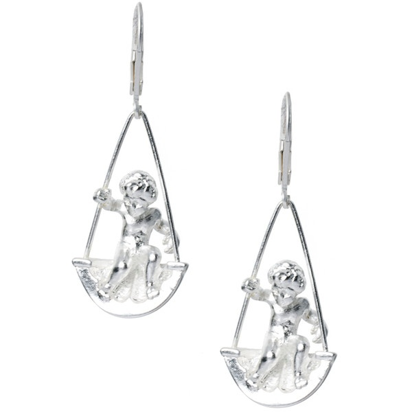 Bill Skinner Swinging Cherub Earrings ($68) ❤ liked on Polyvore