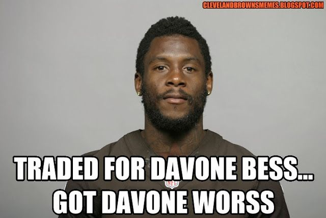 Cleveland Browns Memes: Davone Bess is starting to be a liability for this offense