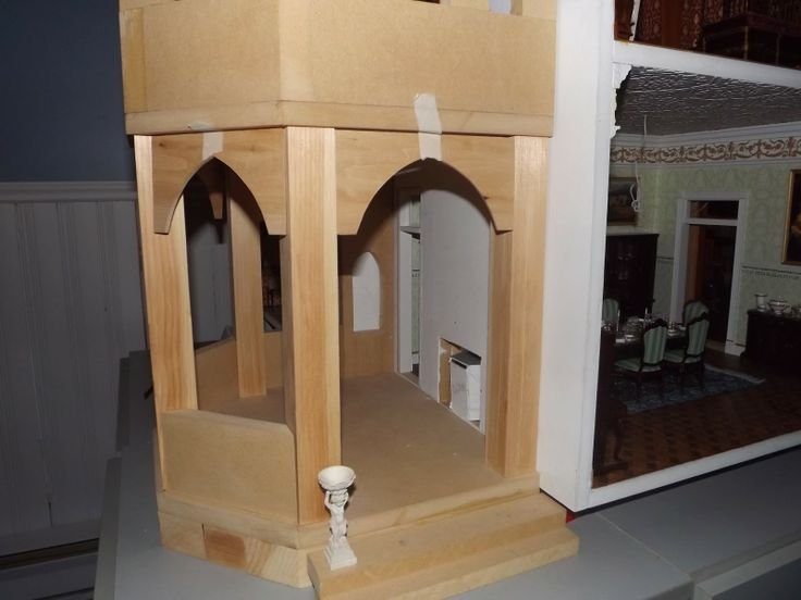 Late Victorian English Manor Dollhouse: 1/12 Miniature from Scratch