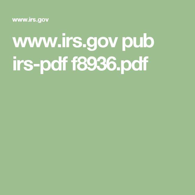 www.irs.gov pub irs-pdf f8936.pdf