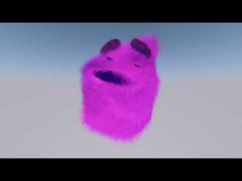 Hairy dance animation with cinema 4D
