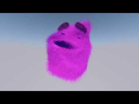 Hairy dance animation with cinema 4D