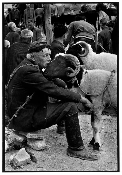 "Costa Manos ©. Crete 1967. Shepherd at market.""A Greek Portfolio"" Magnum Photos"