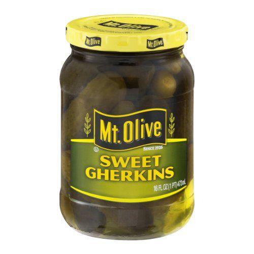 Mt. Olive Sweet Gerkins Pickles 16 oz (Pack of 12) Mt. Olive http://www.amazon.com/dp/B0029K0W0C/ref=cm_sw_r_pi_dp_K47oxb0PGDG18