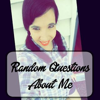 A Bookish Lifestyle: Random Questions About Me