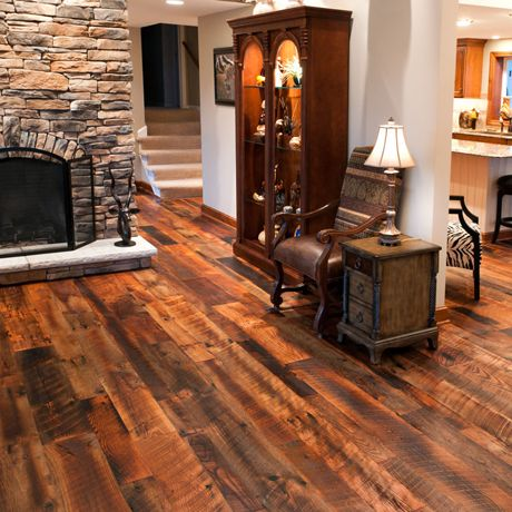 RECLAIMED & WIDE PLANK HARDWOOD FLOORING - Experience the history-soaked warmth of reclaimed and old-growth wide plank hardwood flooring from Olde Wood Limited. Milled from the prized hardwood of century-old barns and wooden structures, our antique reclaimed flooring is a breathtaking example of old world craftsmanship for new world design.