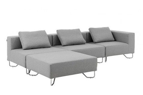 Modern Gray Sofa Lotus by Soft Line // Product available on HomeLovers.pl