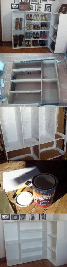 Zapatero hecho de carton, manualidades carton, reciclar carton, papel mache, diy kraft.