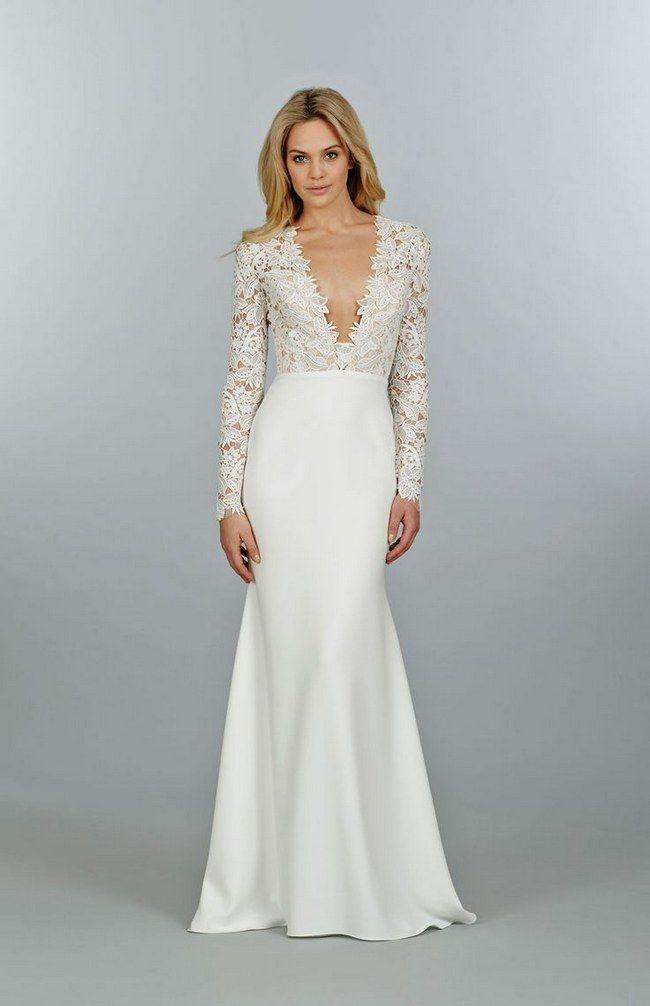 Ridiculously stunning long sleeved wedding dress