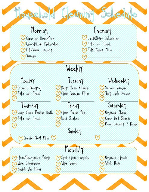 much cuter than my spiral and much more accessible, too! :)   wish it was dry-erase, but could frame it to solve that problem...  household cleaning schedule printable