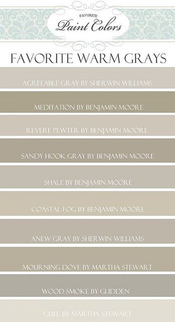 Favorite paint colors blog by Things That Inspire, via Flickr