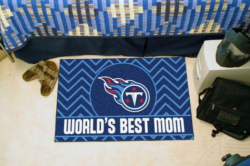 "Tennessee Titans World's Best Mom Starter Area Rug Floor Mat 20"""" X 30"""""