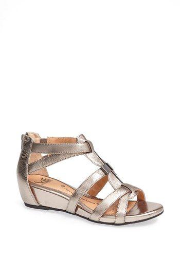 cute + comfy metallic sandals - love the mini wedge!