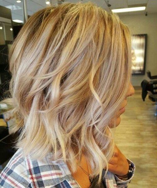 Neue schillernde warme blonde kurze geschichtete Frisuren 2019 für Frauen, die …