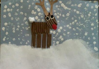 Reindeer lovely idea for a card