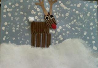 Reindeer lovely idea for a card