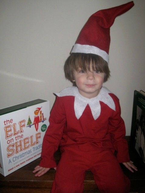 Elf on a Shelf costume!Parenting Toddlers, Costume Ideas, Elf On Shelf, Shelf Ideas, Homemade Costumes, Shelf Costumes, Kids Costumes, Costumes Ideas, Homemade Halloween Costumes