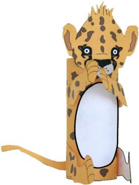 Cheetah craft from toilet paper roll. Just print out the template bw or color.