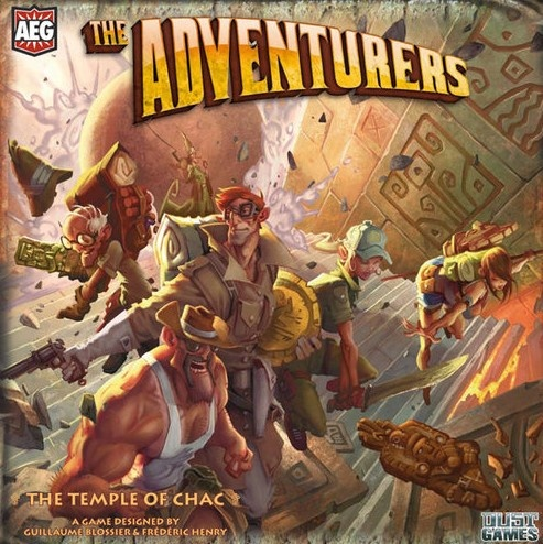 The Adventurers. There are two different versions of this treasure-hunting game, and I can't decide which is better, the one where you run from the rolling boulder, or the one where the ceiling crashes in on you.