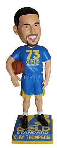 2016 Klay Thompson Bobblehead NBA Record 73 wins Gold Standard Golden State Warriors Bobblehead