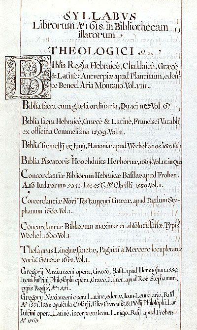 Het voorwerk van de eerste Groningse bibliotheekcatalogus, 1619