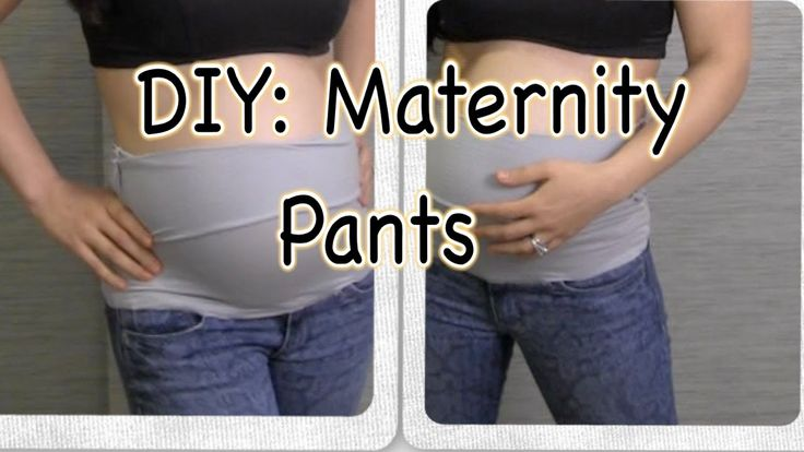 DIY: How To Make Maternity Pants.  I think I will try this but use a tank top and just cut below the arm pits to create the band part.