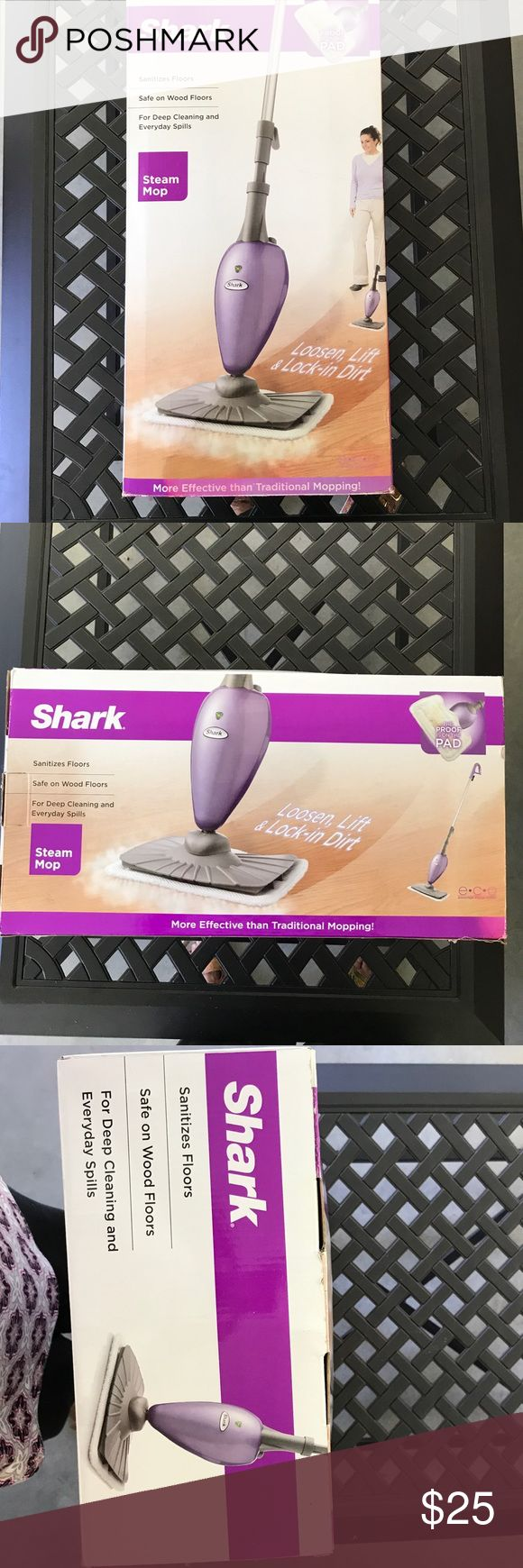 SHARK steam mop New, only used once Lightweight, adjuststable handle, uses tap water, quick start up, 2  micro fiber pads, safe for wood floors also! SHARK Other