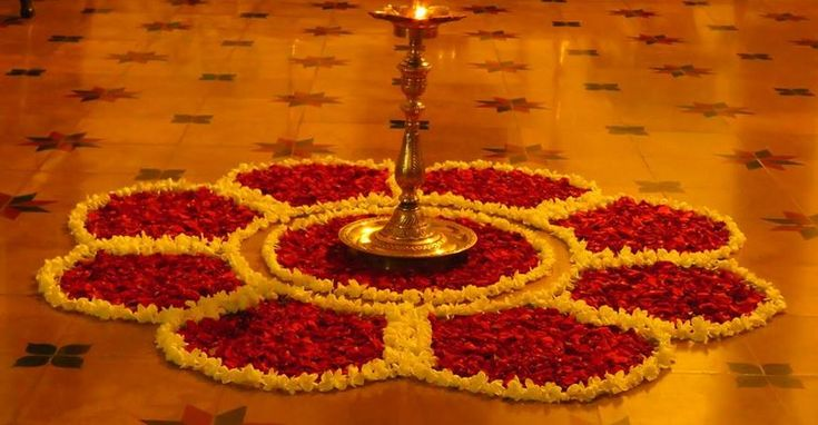 Floral Rangoli Designs and Patterns for Diwali
