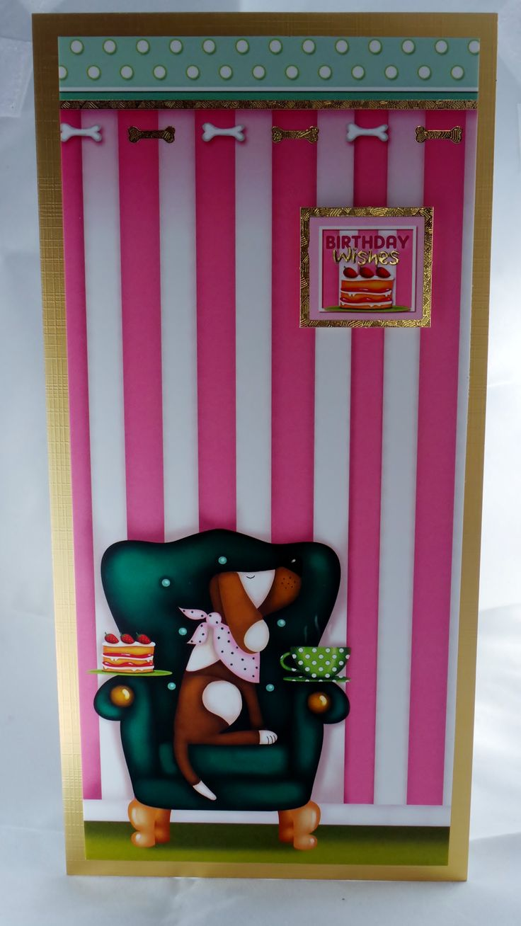DL card with hand made envelope, inside message is Blank, comes with a free gift tag