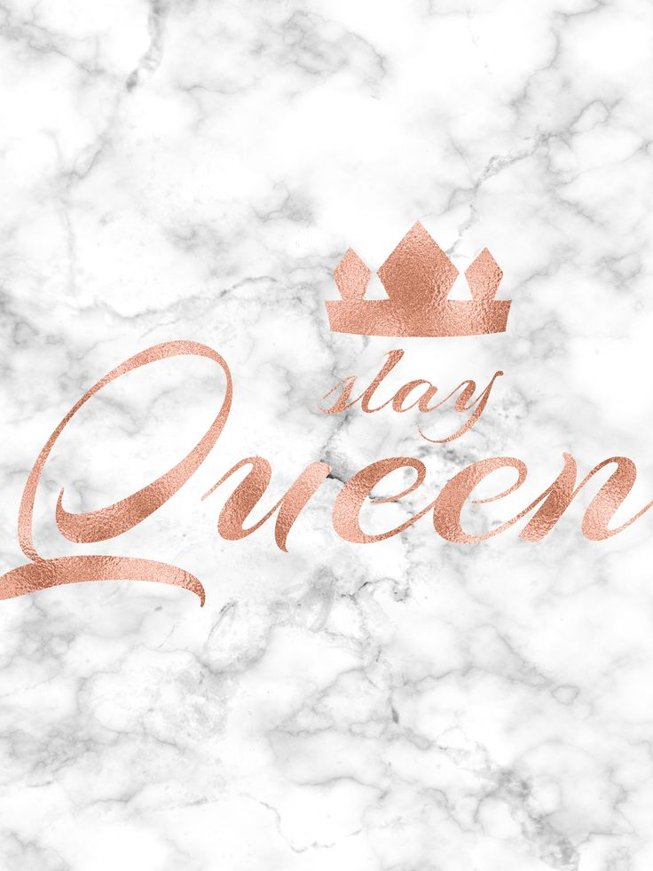 Hustle Hard Girl Wallpaper Slay Queen Rose Gold Printable Rose Gold Print Rose Gold