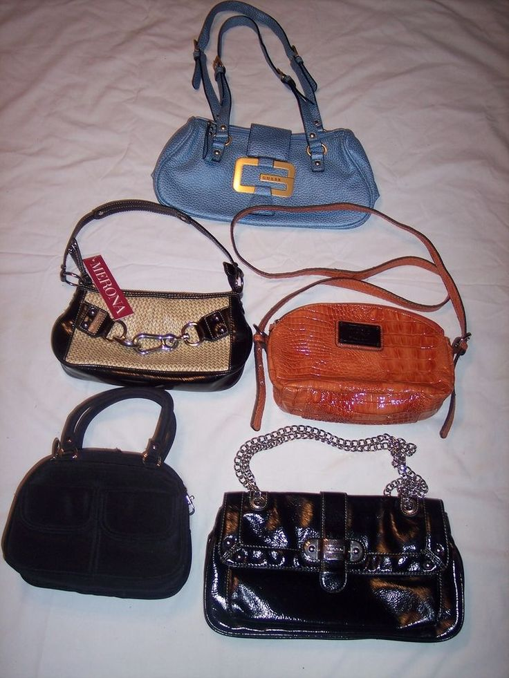 lot (5) of purses name brands NWT/NWOT/EUC #collectionmeronanicoleguess #ShoulderBags