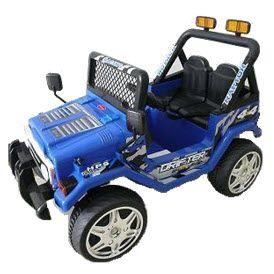 Vehículo infantil jeep doble asiento. Hobby Market.
