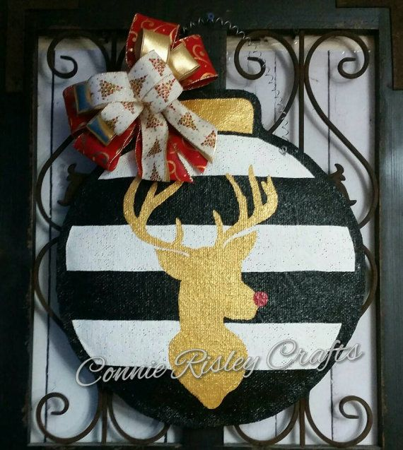 Check out this item in my Etsy shop https://www.etsy.com/listing/473931554/christmas-ornament-burlap-door-hanger