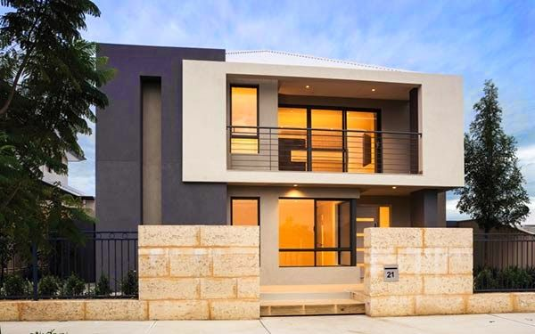 Foto Penampilan Desain Rumah Minimalis Modern 2 lantai
