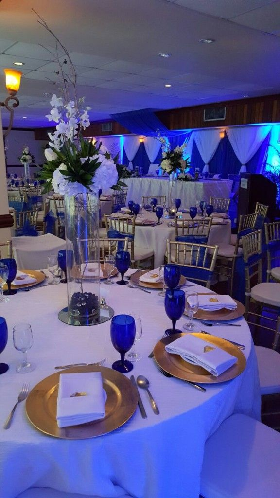 Mandeville Hotel Wedding Venue In Jamaica Blue With Hints Of Gold