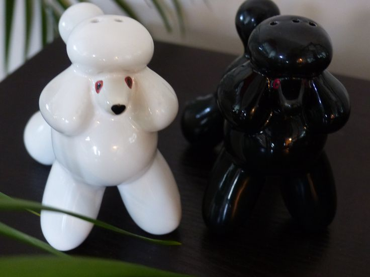 PRECIOUS POODLES - Salt and Pepper Shakers by GOLLYWOODBOULEVARD on Etsy