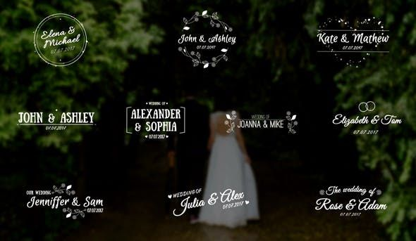 Elegant Wedding Titles Niomotion Wedding Titles After Effects After Effects Templates